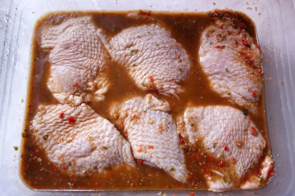 Jerk Chicken marinating overnight