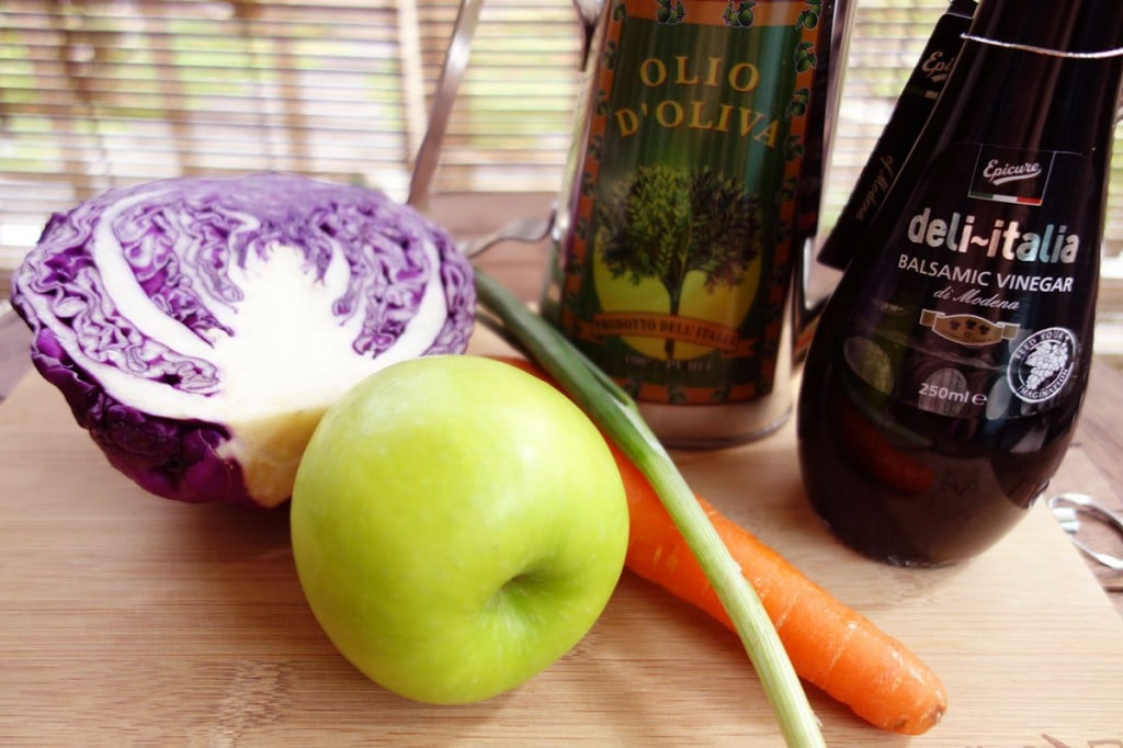 Red Cabbage Slaw Ingredients