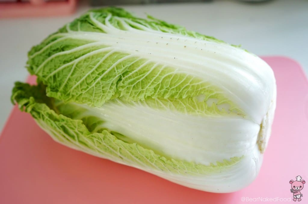 napa cabbage or wong bok