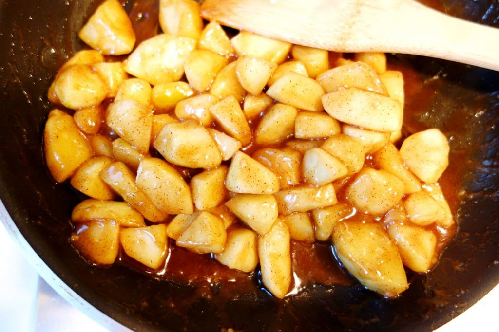 Cooking granny smith apples for apple turnovers