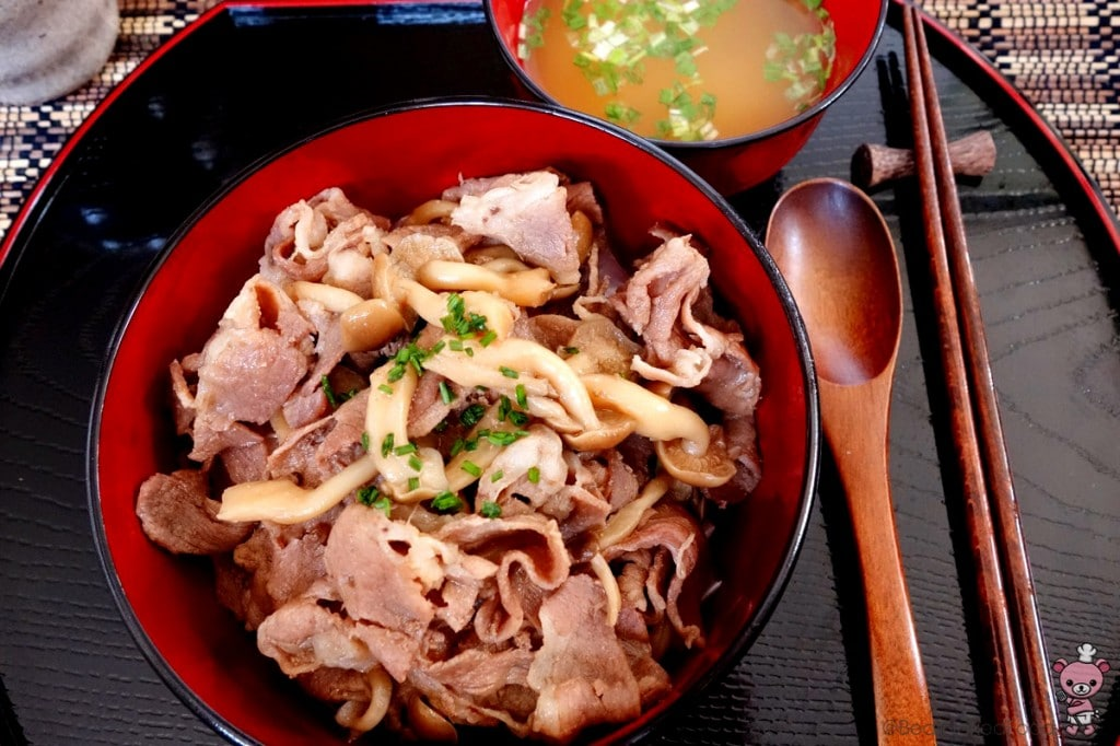 Buta Don with miso soup