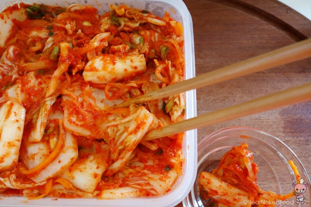 Ta-da! This is my homemade kimchi. Look out for my step by step guide to making Mak Kimchi next week :-).