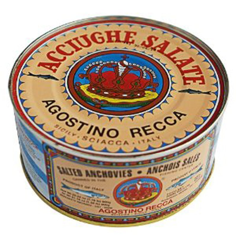 Photo courtesy of Amazon.com. I threw away my can and kept the anchovies in a container.