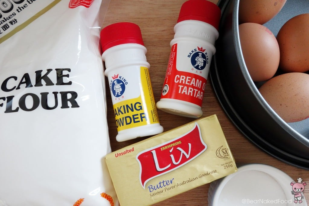 vanilla sponge cake ingredients