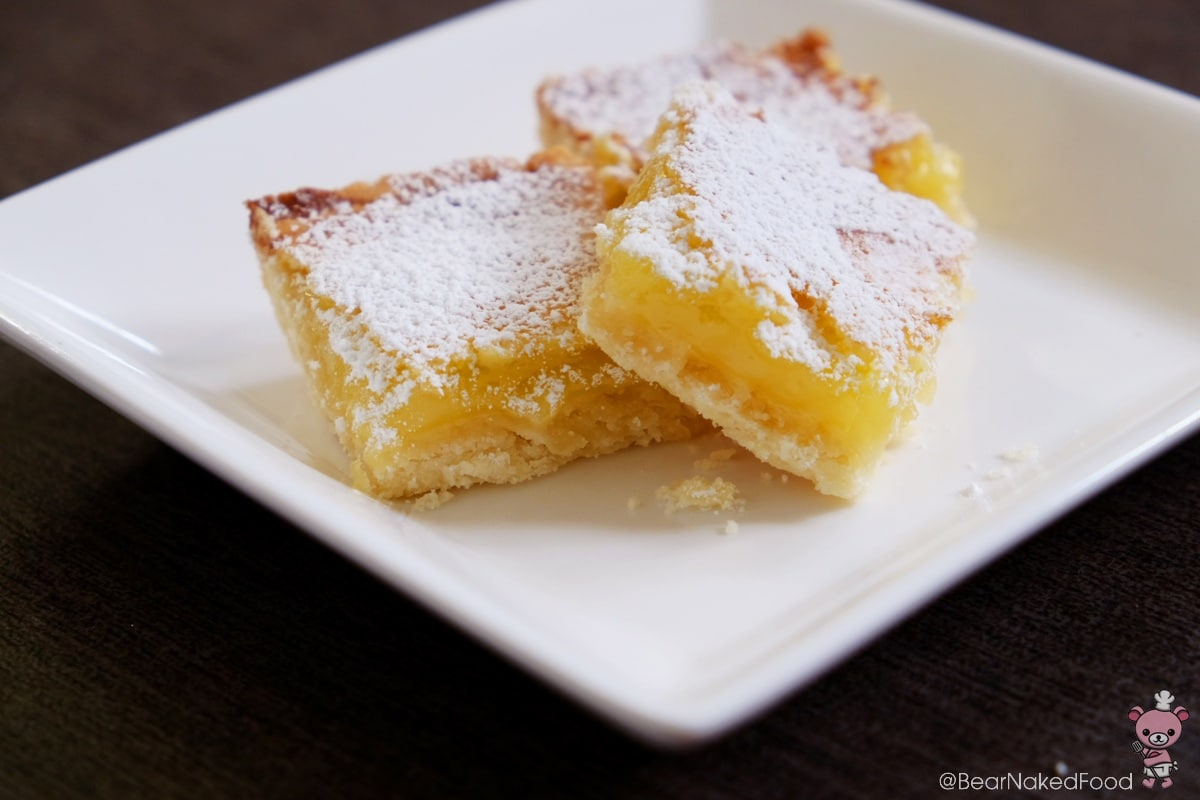 lemon squares or lemon bars.