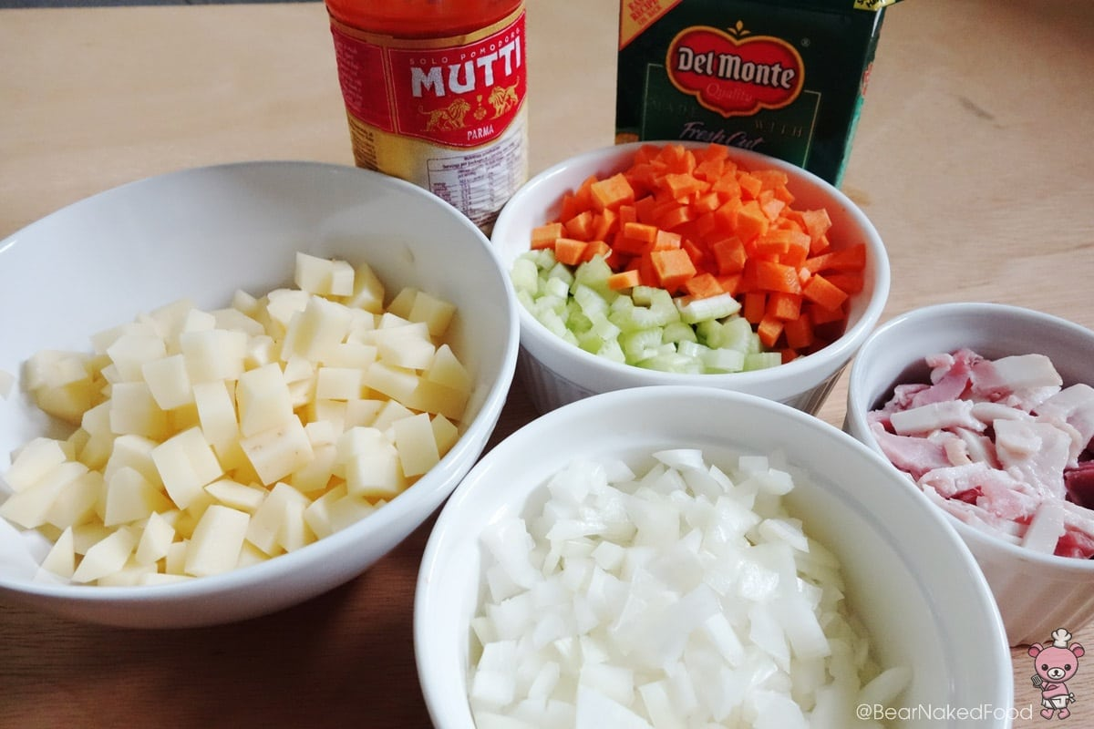 ingredients for tomato corn chowder