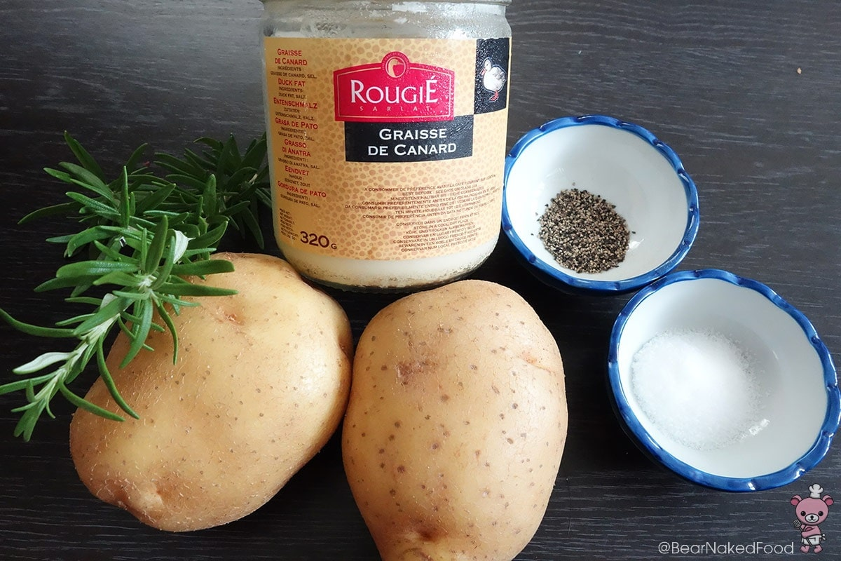 Duck fat potatoes ingredient