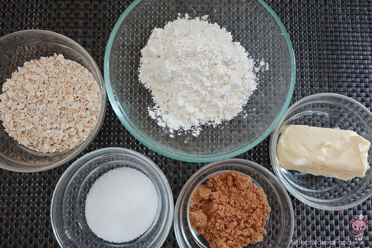 Crumble ingredients