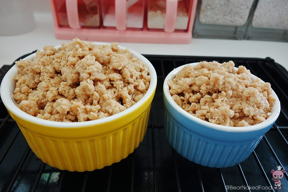 crumble for banana mango crumble