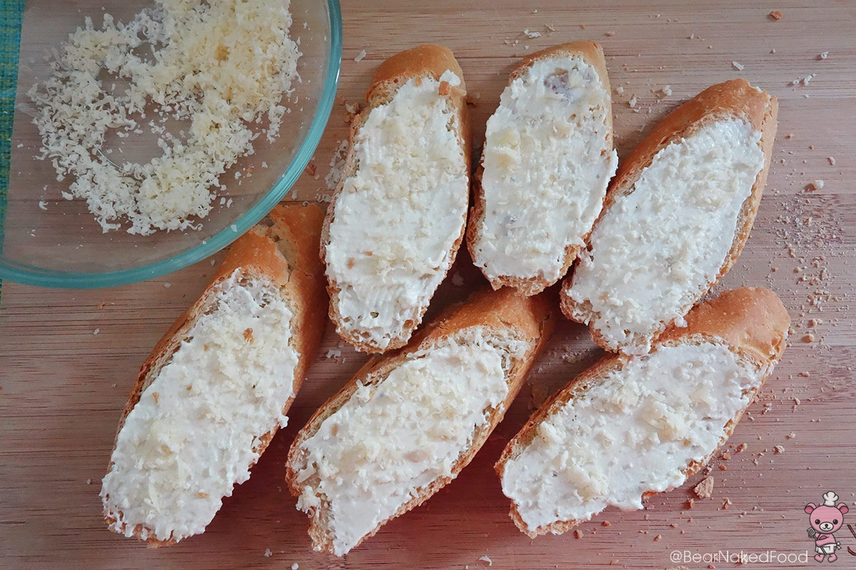cream cheese and garlic bread