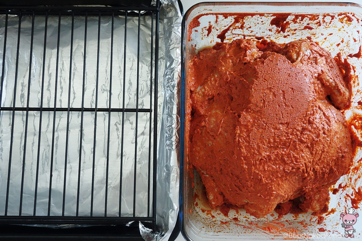 roasting tandoori chicken