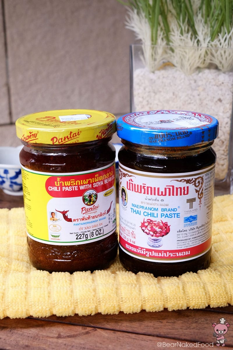 nam prik phao thai chilli paste