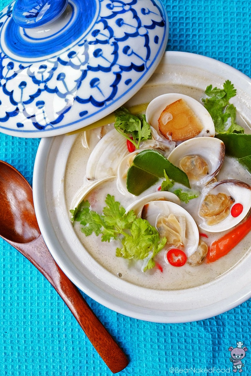 seasoning coconut and lemongrass clam soup