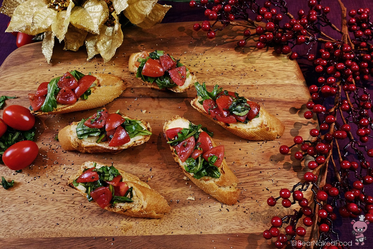 roasted garlic parmesan bruschetta