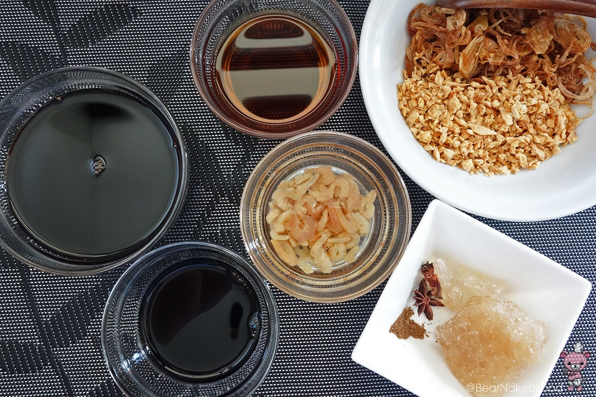 ingredients for braised pork rice