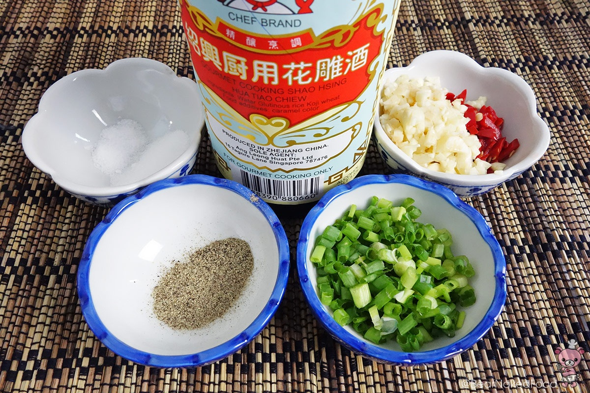 Ingredients for salt and pepper squid