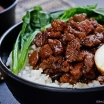 lu rou fan braised pork rice