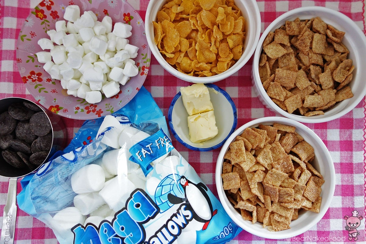 ingredients for cinnamon toast crunch bars