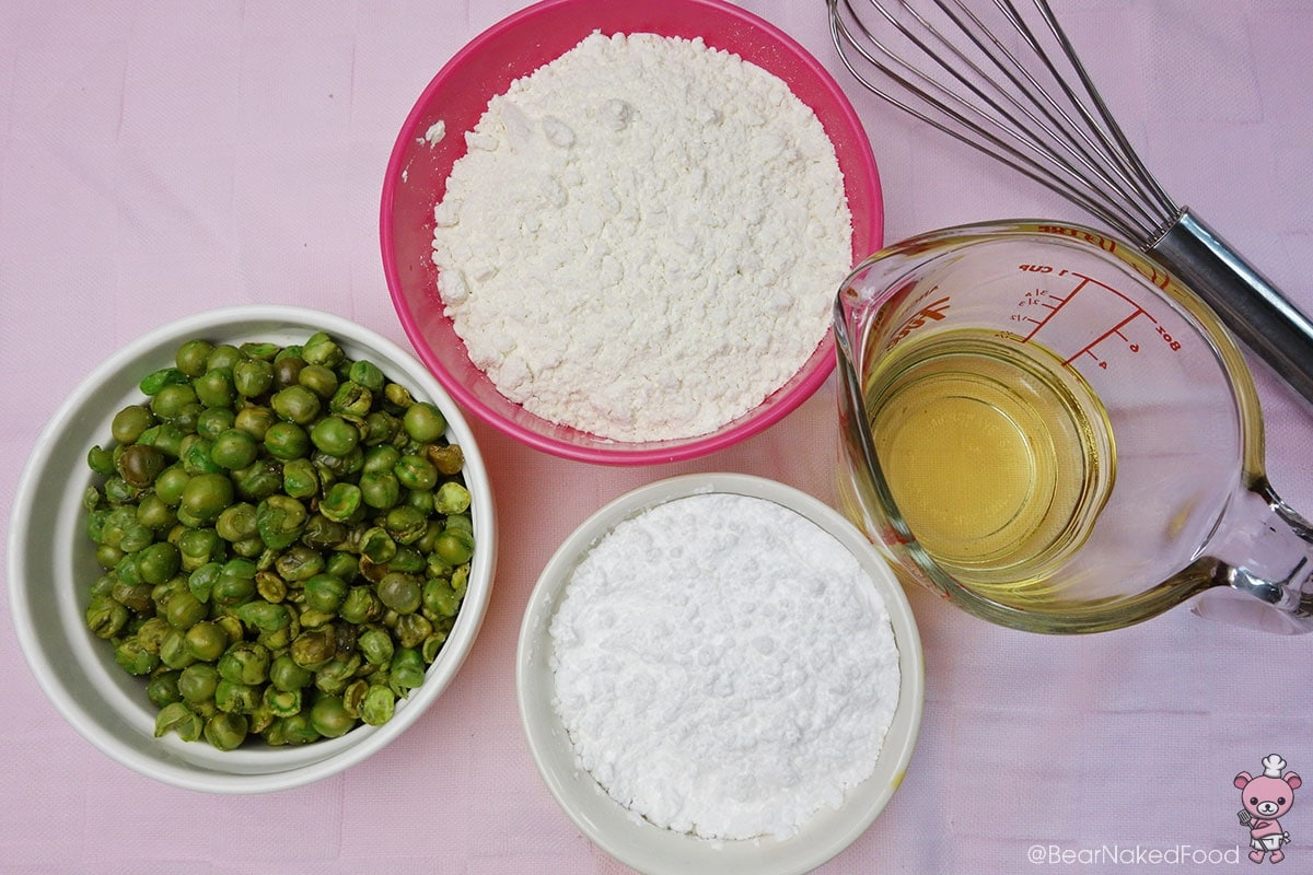 ingredients for green pea cookies