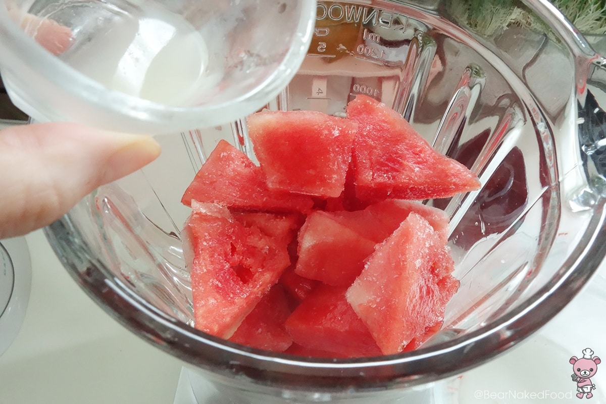 how to make watermelon slushie