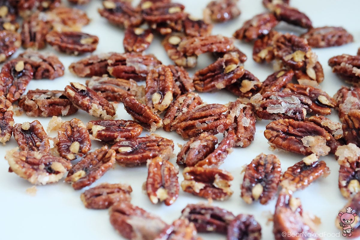 how to make bear naked food spicy glazed candied pecans