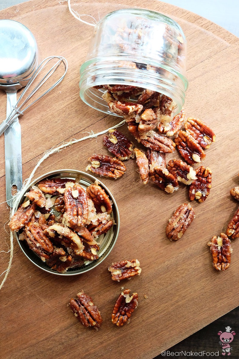 bear naked food spicy glazed candied pecans