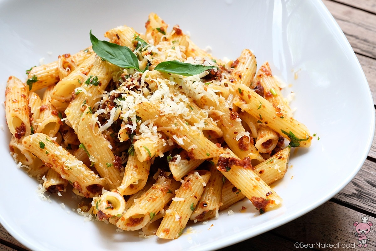 Bear Naked Food Simple No-Cook Penne Arrabbiata