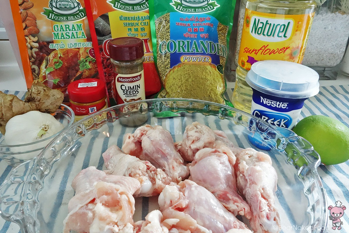 ingredients for bear naked food crispy tandoori chicken drumlets