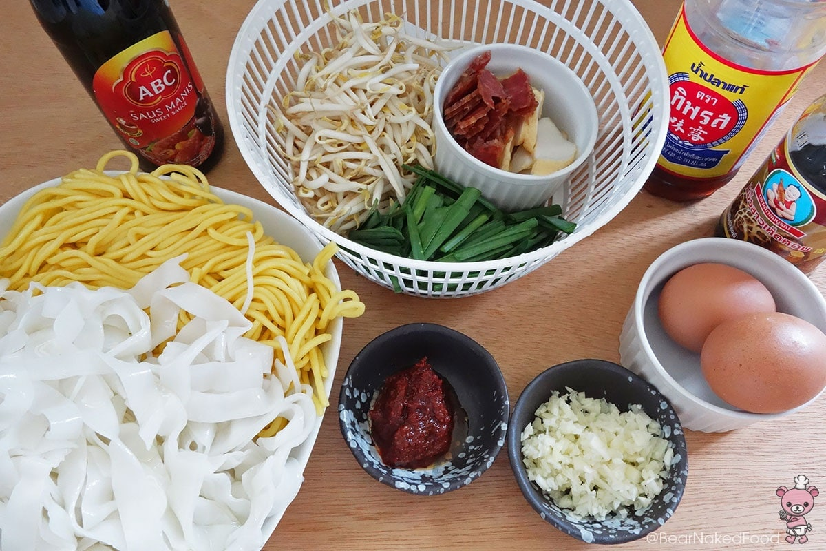 ingredients for char kway teow
