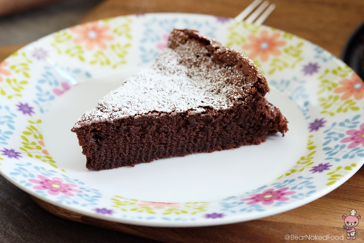 Bear Naked Food 4-ingredient flourless chocolate cake