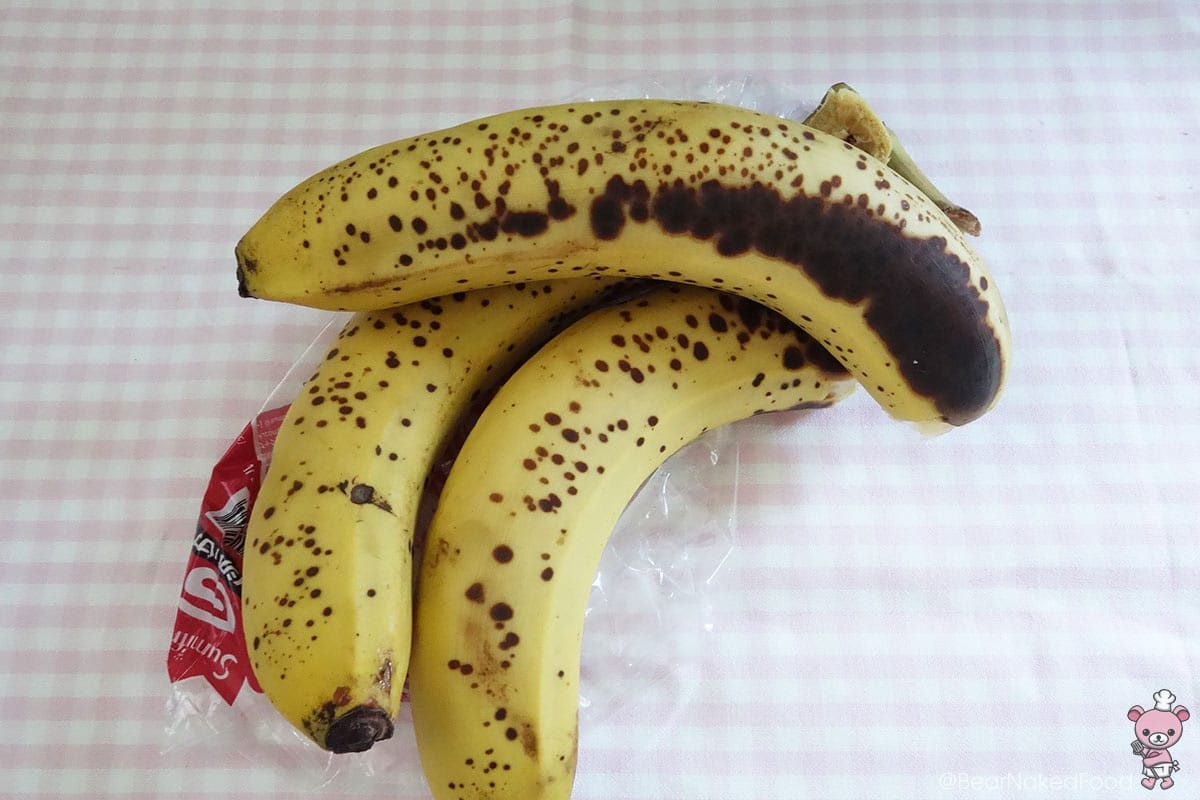 These 'spotty' looking bananas are oh-so-sweet and perfect for this recipe!
