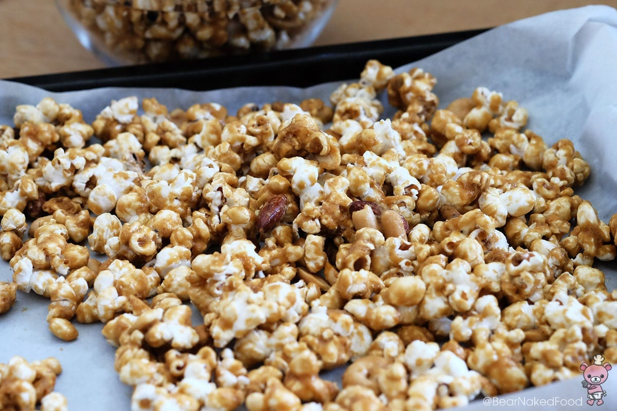 how to make Bear Naked Food Homemade Caramel Popcorn