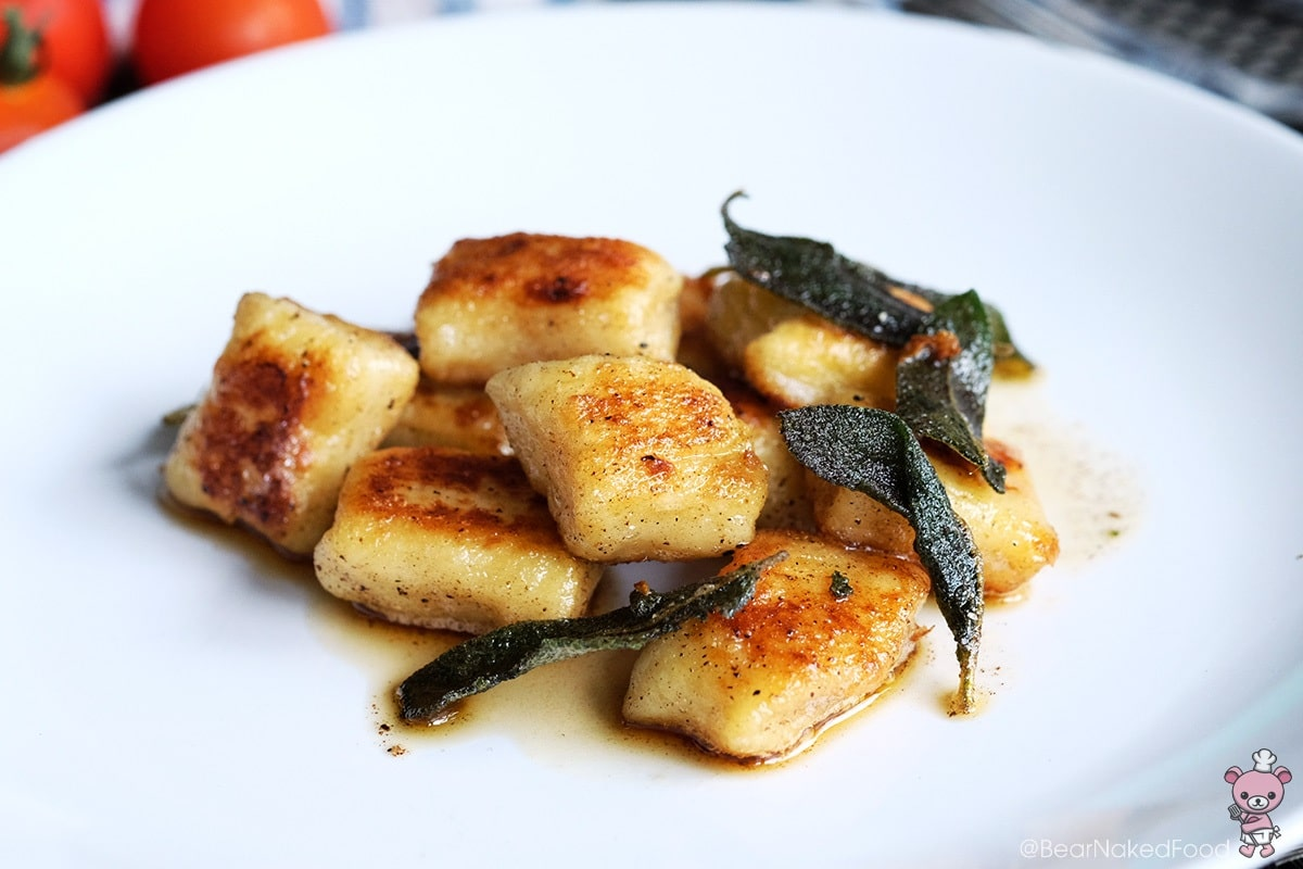 Bear Naked Food Pan Seared Gnocchi with Brown butter and sage