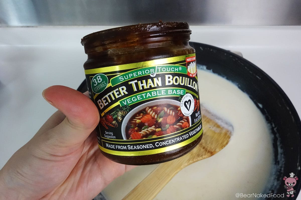 Instead of chicken powder, I'm using this vegetable stock paste. Absolutely in love with the flavor!
