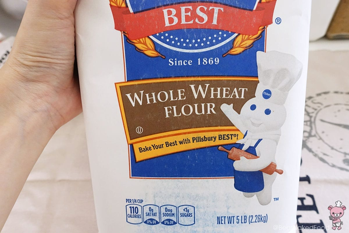Managed to get my hands on wholewheat flour as indicated in the recipe.