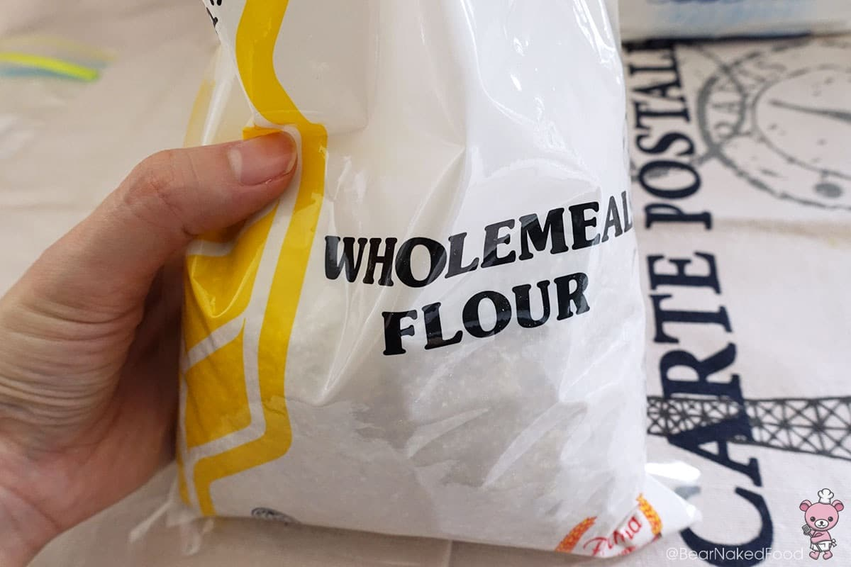 This wholemeal flour was what I used in the video.