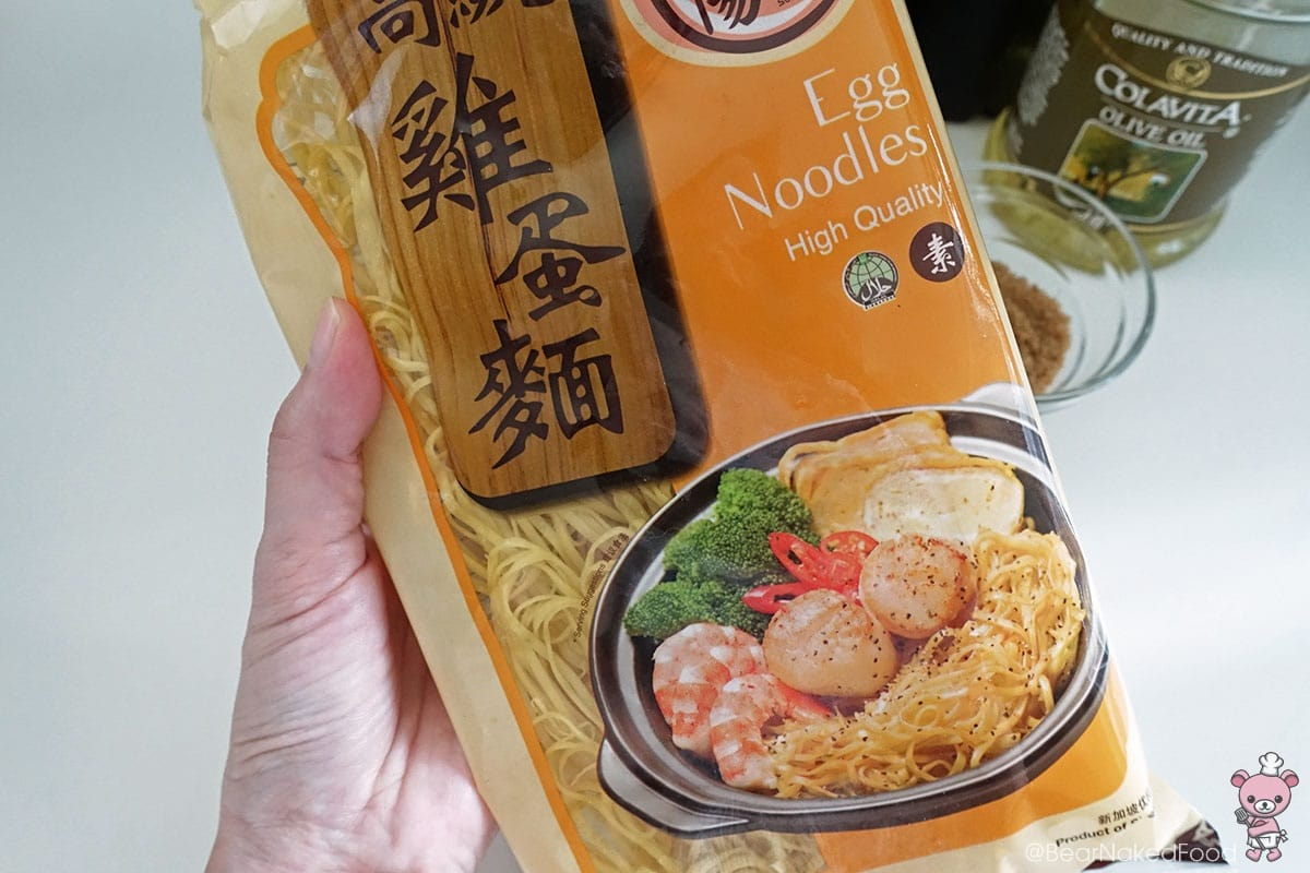 I'm using dried egg noodles.