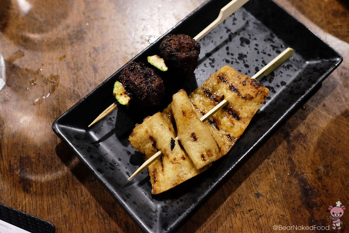 Grilled chicken meatball and fish cake Sync Korean Tapas and Bar