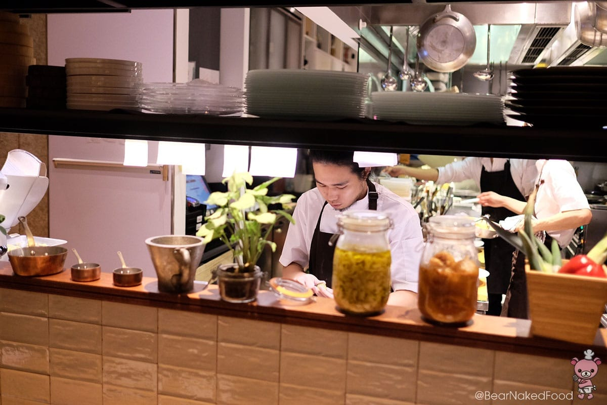 Chef at work. Love the open kitchen concept.