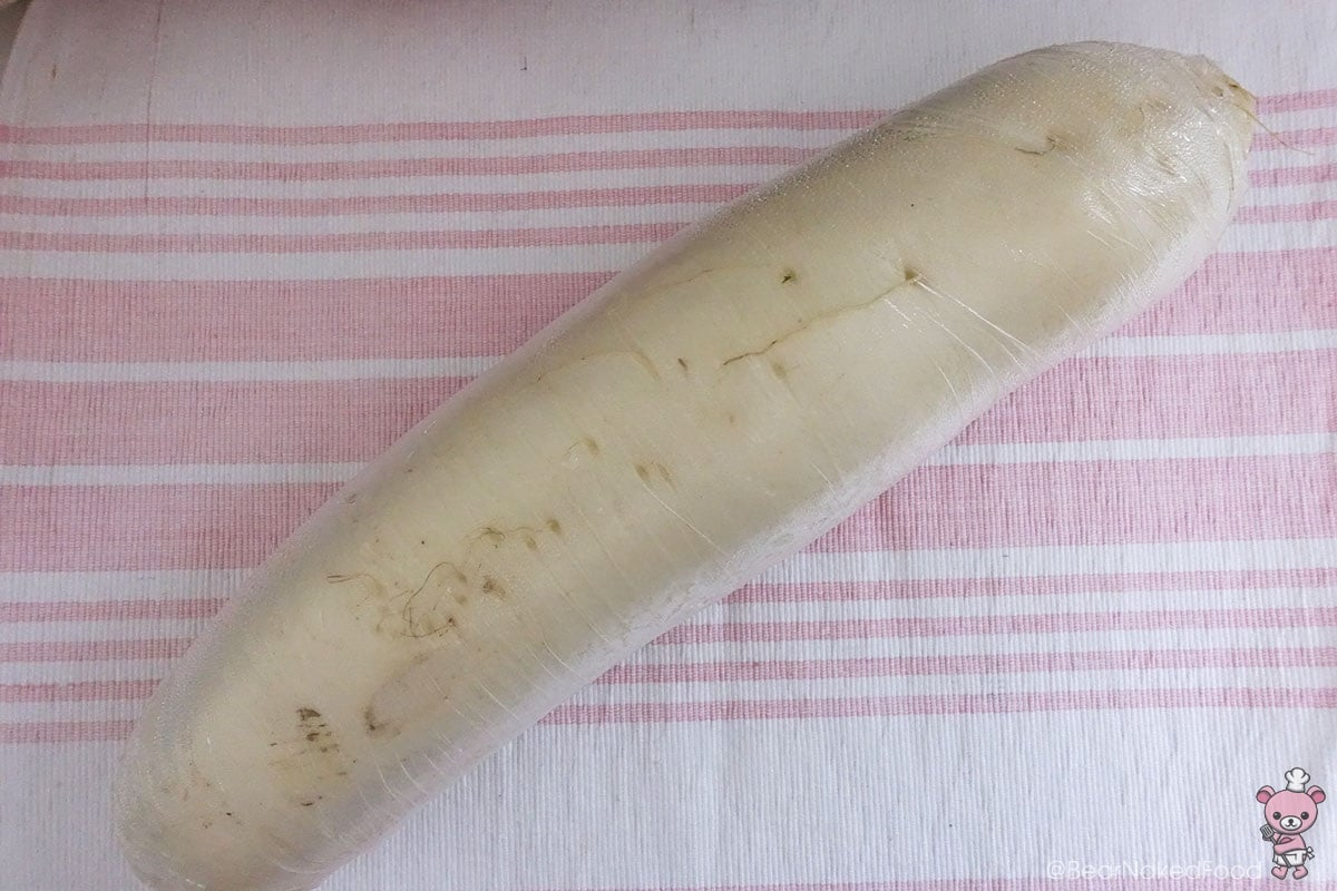 The star of the dish - radish.