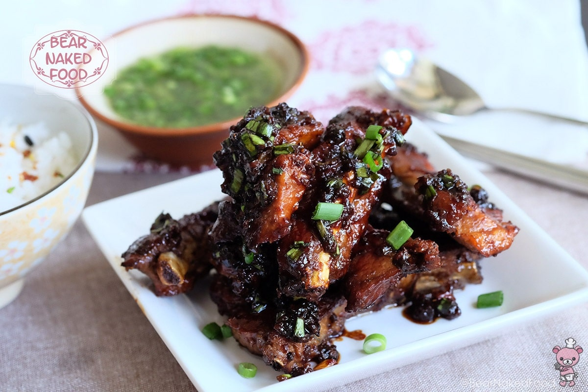 Filipino adobo glazed pork ribs bear naked food for Adobo filipino cuisine