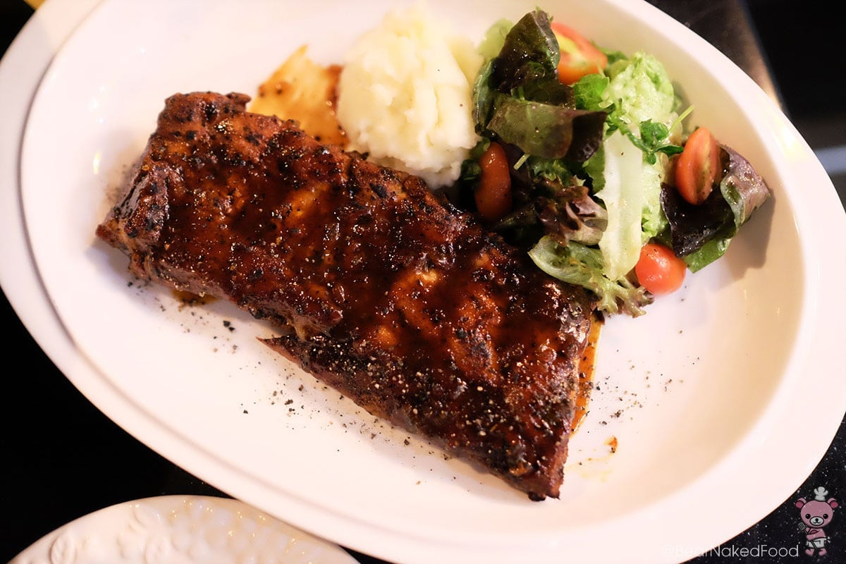 Cajun Pork Ribs (half slab), $26
