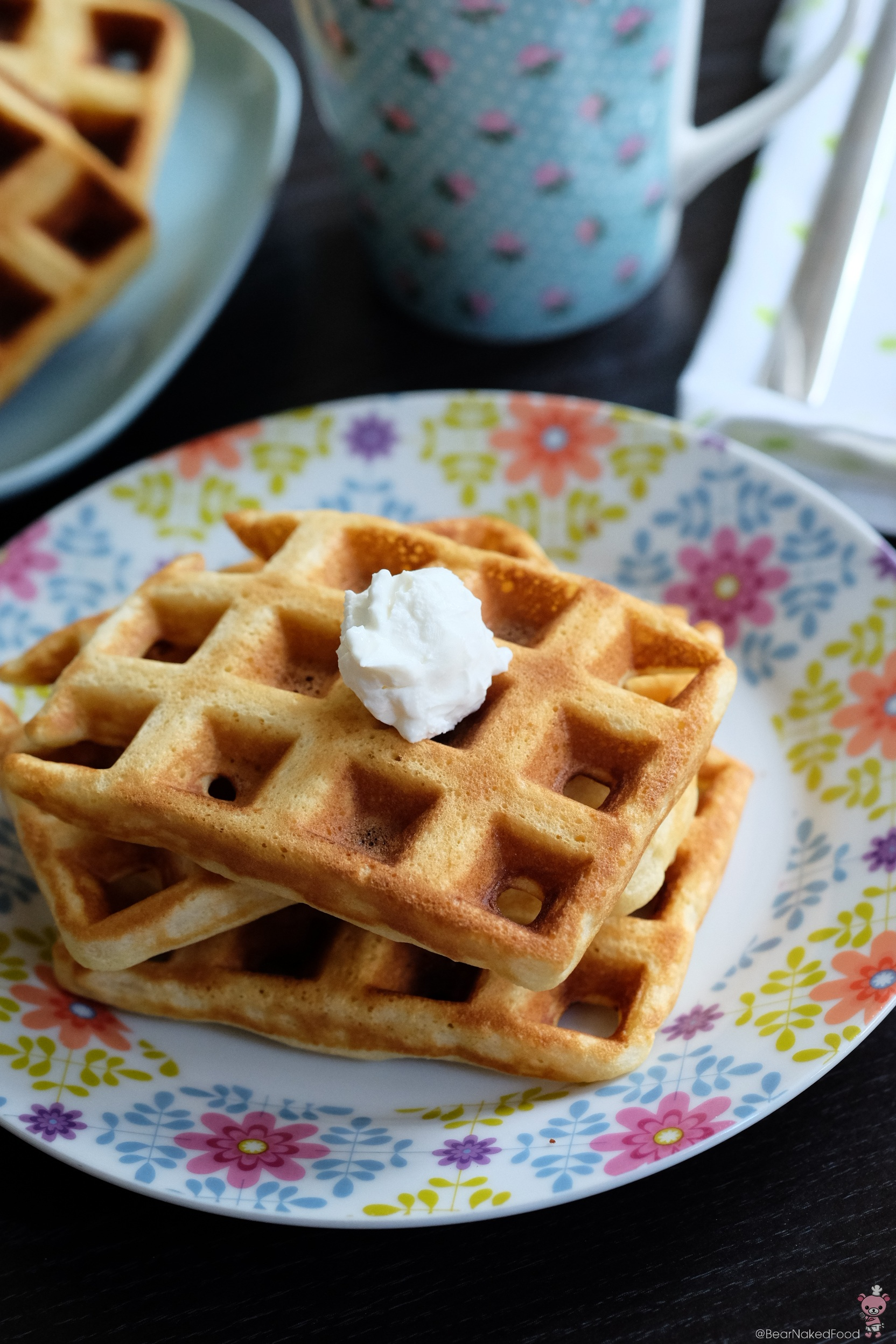 Bear Naked Food Crispy and Light Buttermilk Waffles