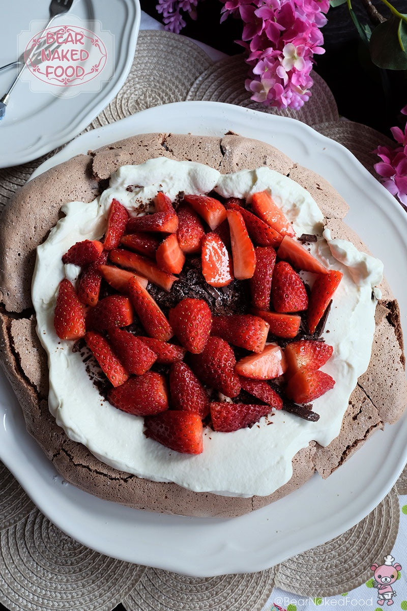 Bear Naked Food Double Chocolate Pavlova with Mascarpone Cream