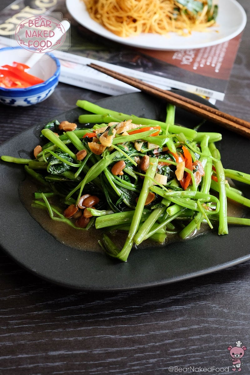 Bear Naked Food stir fried kang kong with fermented soy bean