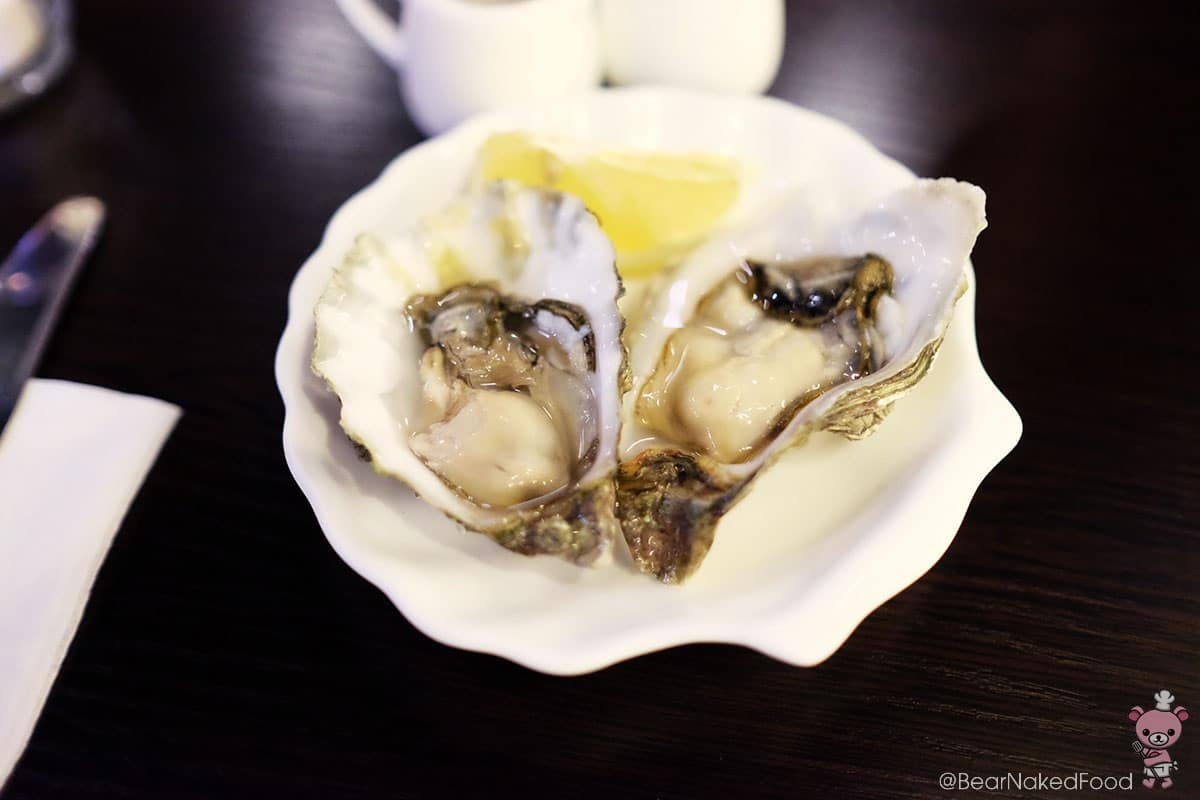 2 pieces oysters, $8.90