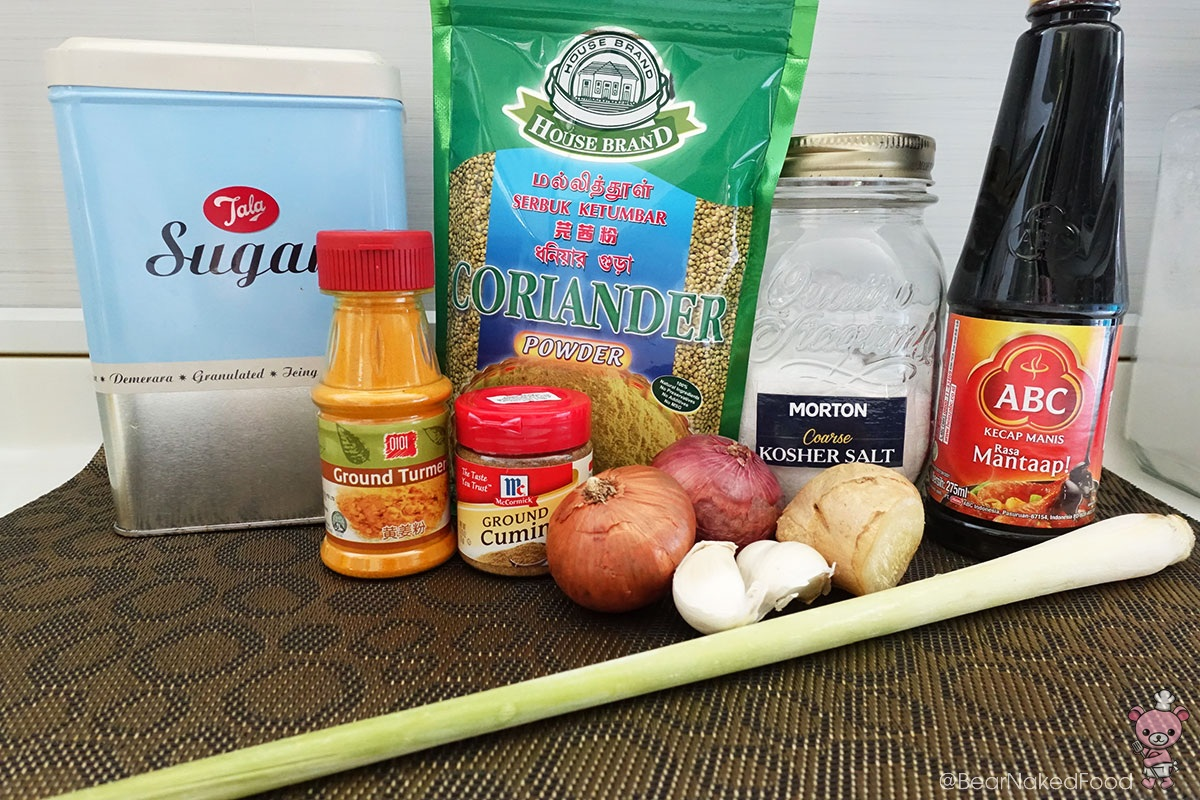 The line up - for satay marinade.