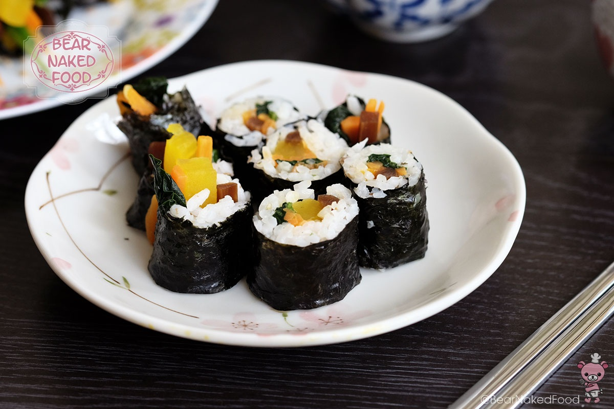 how to make Bear Naked Food mayak kimbap