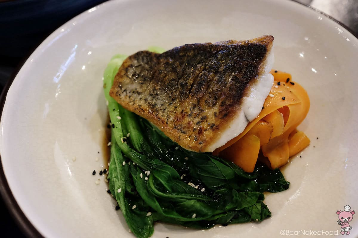 Food Rebel Sustainable Barramundi w Asian Sesame Greens