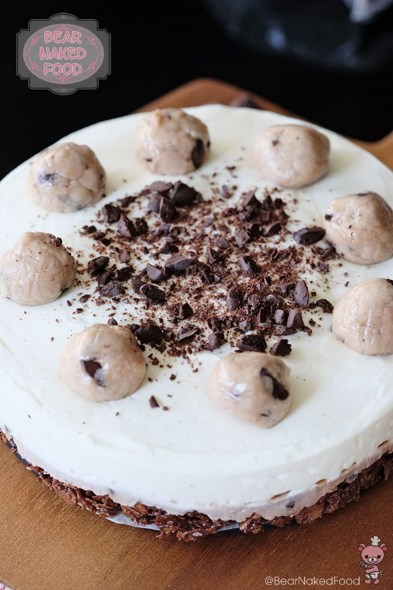 Bear Naked Food no bake cookie dough cheesecake